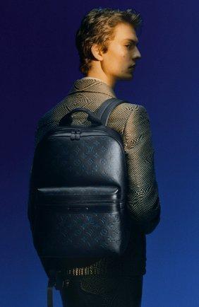 Мужской кожаный рюкзак sprinter LOUIS VUITTON темно-синего цвета, арт. M45728 | Фото 2