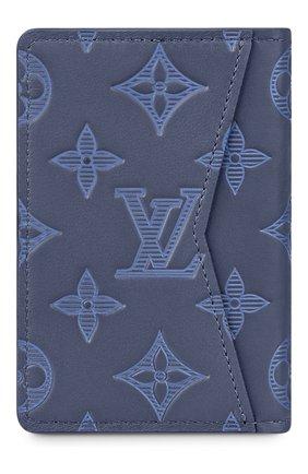Мужской кожаный футляр для кредитных карт LOUIS VUITTON темно-синего цвета, арт. M80421 | Фото 2