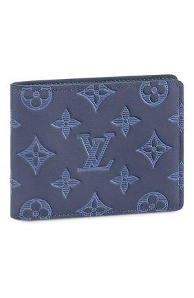 Мужской кожаное портмоне multiple LOUIS VUITTON темно-синего цвета, арт. M80422 | Фото 1