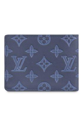 Мужской кожаное портмоне multiple LOUIS VUITTON темно-синего цвета, арт. M80422 | Фото 2