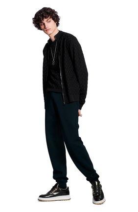 Мужской шерстяной кардиган LOUIS VUITTON черного цвета, арт. 1A7XD9 | Фото 2 (Материал внешний: Шерсть; Мужское Кросс-КТ: Кардиган-одежда; Стили: Кэжуэл)