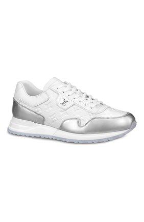 Мужские кожаные кроссовки run away LOUIS VUITTON белого цвета, арт. 1A8V4M | Фото 1 (Стили: Классический)