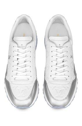 Мужские кожаные кроссовки run away LOUIS VUITTON белого цвета, арт. 1A8V4M | Фото 2 (Стили: Классический)