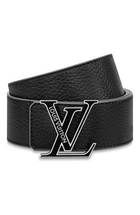 Мужской двусторонний ремень lv initiales LOUIS VUITTON черного цвета, арт. M0344S | Фото 1 (Случай: Повседневный)