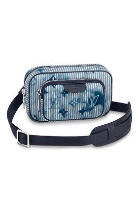 Мужская текстильная сумка outdoor LOUIS VUITTON голубого цвета, арт. M80462 | Фото 1 (Материал: Текстиль)