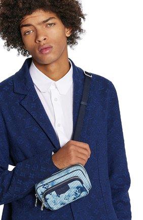 Мужская текстильная сумка outdoor LOUIS VUITTON голубого цвета, арт. M80462 | Фото 2 (Материал: Текстиль)