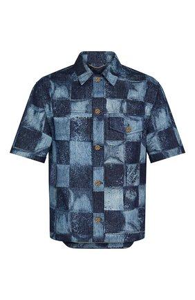 Мужская джинсовая рубашка LOUIS VUITTON синего цвета, арт. 1A8WBA | Фото 1