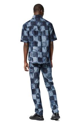 Мужская джинсовая рубашка LOUIS VUITTON синего цвета, арт. 1A8WBA | Фото 2