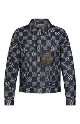Мужская джинсовая куртка LOUIS VUITTON синего цвета, арт. 1A8WBJ | Фото 1