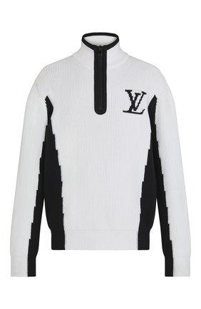 Мужской свитер LOUIS VUITTON белого цвета, арт. 1A8WRZ   Фото 1