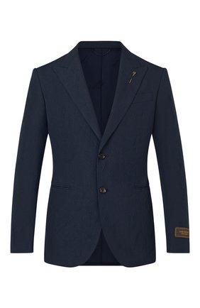 Мужской хлопковый пиджак LOUIS VUITTON темно-синего цвета, арт. 1A8WWG | Фото 1 (Материал внешний: Хлопок; Пиджаки М: Приталенный; Случай: Коктейльный; 1-2-бортные: Однобортные; Стили: Кэжуэл)