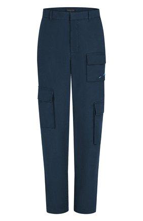 Мужские хлопковые брюки-карго LOUIS VUITTON темно-синего цвета, арт. 1A8X1H | Фото 1 (Материал внешний: Хлопок; Силуэт М (брюки): Карго; Случай: Повседневный; Стили: Кэжуэл)