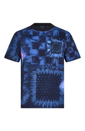 Мужская хлопковая футболка LOUIS VUITTON темно-синего цвета, арт. 1A8X1M | Фото 1