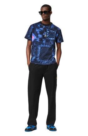 Мужская хлопковая футболка LOUIS VUITTON темно-синего цвета, арт. 1A8X1M | Фото 2
