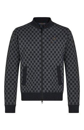 Мужской хлопковый кардиган LOUIS VUITTON серого цвета, арт. 1A8X2F | Фото 1 (Материал внешний: Хлопок; Мужское Кросс-КТ: Кардиган-одежда; Стили: Спорт-шик)