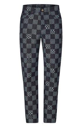 Мужские джинсы LOUIS VUITTON синего цвета, арт. 1A8X7T | Фото 1