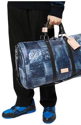 Мужская дорожная сумка keepall 50 LOUIS VUITTON синего цвета, арт. N50059 | Фото 2