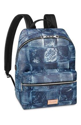 Мужской рюкзак discovery LOUIS VUITTON синего цвета, арт. N50060 | Фото 1 (Материал: Текстиль)