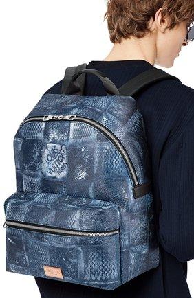 Мужской рюкзак discovery LOUIS VUITTON синего цвета, арт. N50060 | Фото 2 (Материал: Текстиль)