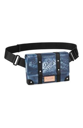 Мужская сумка-слинг trunk LOUIS VUITTON синего цвета, арт. N50061 | Фото 1 (Материал: Текстиль)