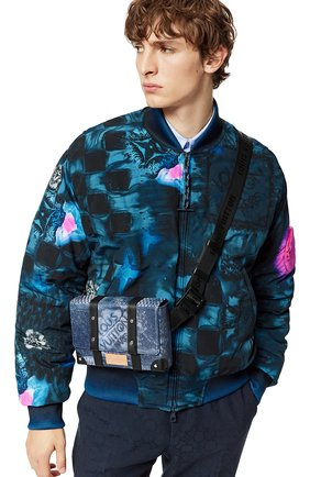 Мужская сумка-слинг trunk LOUIS VUITTON синего цвета, арт. N50061 | Фото 2 (Материал: Текстиль)
