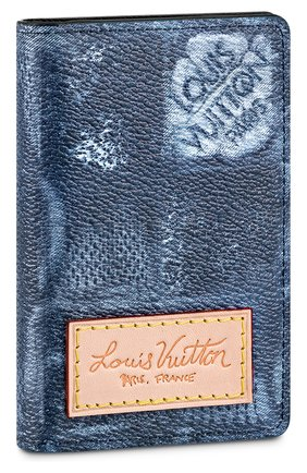 Мужской футляр для кредитных карт LOUIS VUITTON синего цвета, арт. N60465 | Фото 1