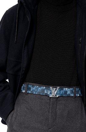 Мужской двусторонний ремень lv initiales LOUIS VUITTON темно-синего цвета, арт. M0378S | Фото 2