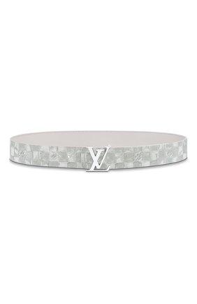 Мужской двусторонний ремень lv initiales LOUIS VUITTON светло-серого цвета, арт. MP300S | Фото 2 (Случай: Повседневный)