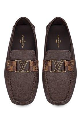 Мужские кожаные мокасины monte carlo LOUIS VUITTON коричневого цвета, арт. 1A8V16   Фото 2