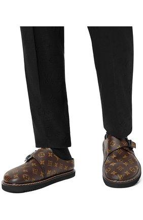 Мужские сабо lv easy LOUIS VUITTON коричневого цвета, арт. 1A8WI7   Фото 2