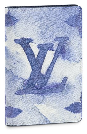 Мужской футляр для кредитных карт LOUIS VUITTON синего цвета, арт. M80455 | Фото 1