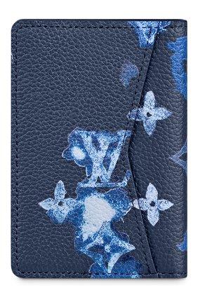 Мужской кожаный футляр для кредитных карт LOUIS VUITTON темно-синего цвета, арт. M80463 | Фото 2