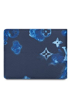 Мужской кожаное портмоне slender LOUIS VUITTON темно-синего цвета, арт. M80464 | Фото 2