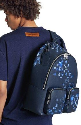 Мужской кожаный рюкзак multipocket LOUIS VUITTON темно-синего цвета, арт. M57841 | Фото 2 (Материал: Натуральная кожа)