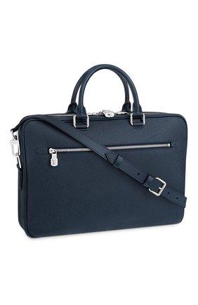 Мужская кожаная сумка для ноутбука porte-documents business LOUIS VUITTON синего цвета, арт. M33442 | Фото 1