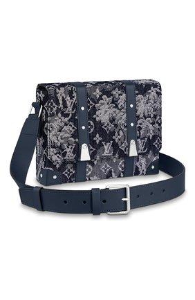 Мужская сумка trunk LOUIS VUITTON темно-синего цвета, арт. M57282 | Фото 1