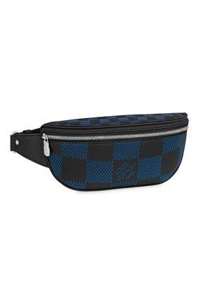 Мужская кожаная поясная сумка campus LOUIS VUITTON синего цвета, арт. N50022 | Фото 1