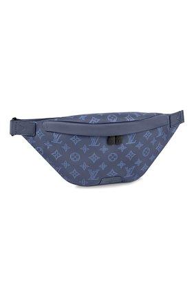 Мужская кожаная поясная сумка discovery pm LOUIS VUITTON темно-синего цвета, арт. M45729 | Фото 1