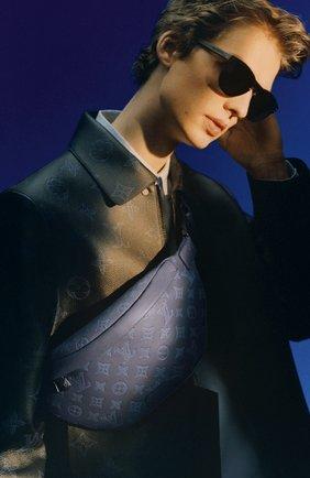 Мужская кожаная поясная сумка discovery pm LOUIS VUITTON темно-синего цвета, арт. M45729 | Фото 2