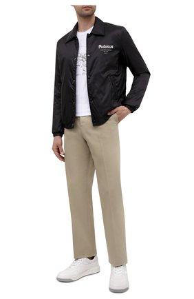 Мужские кожаные кеды one stud VALENTINO белого цвета, арт. WY2S0E71/NWN   Фото 2 (Материал внутренний: Натуральная кожа, Текстиль; Подошва: Массивная)
