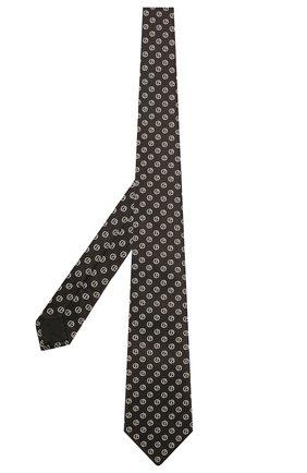 Мужской шелковый галстук GIORGIO ARMANI черного цвета, арт. 360054/1A909 | Фото 2