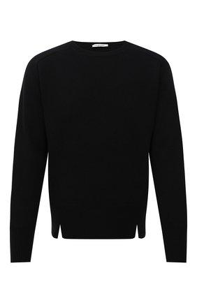 Мужской кашемировый свитер VALENTINO черного цвета, арт. WV3KC15D7K8 | Фото 1 (Рукава: Длинные; Длина (для топов): Стандартные; Материал внешний: Шерсть; Принт: Без принта; Стили: Кэжуэл)