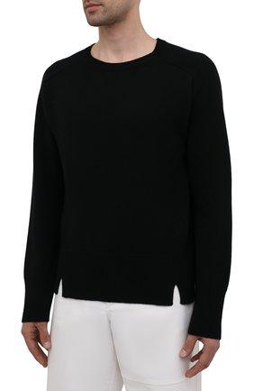 Мужской кашемировый свитер VALENTINO черного цвета, арт. WV3KC15D7K8 | Фото 3 (Материал внешний: Шерсть; Рукава: Длинные; Принт: Без принта; Длина (для топов): Стандартные; Стили: Кэжуэл)