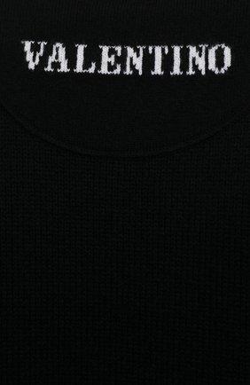 Мужской кашемировый свитер VALENTINO черного цвета, арт. WV3KC15D7K8 | Фото 5 (Материал внешний: Шерсть; Рукава: Длинные; Принт: Без принта; Длина (для топов): Стандартные; Стили: Кэжуэл)