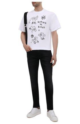Мужские джинсы 7 FOR ALL MANKIND черного цвета, арт. JSD4A490T0 | Фото 2