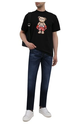 Мужская хлопковая футболка DOMREBEL черного цвета, арт. STANDING/T-SHIRT | Фото 2