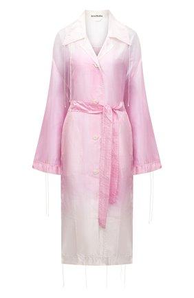 Женское пальто ACNE STUDIOS светло-розового цвета, арт. A90358 | Фото 1