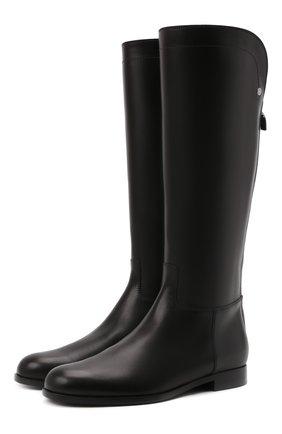 Женские кожаные сапоги welly LORO PIANA черного цвета, арт. FAI2329 | Фото 1