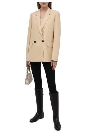 Женские кожаные сапоги welly LORO PIANA черного цвета, арт. FAI2329 | Фото 2