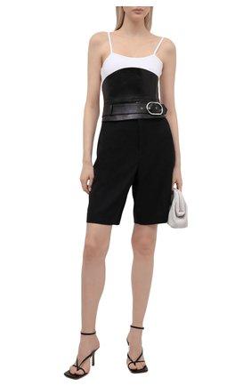 Женский кожаный пояс PACO RABANNE черного цвета, арт. 21EFAC083VM0016 | Фото 2